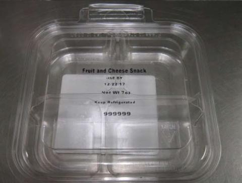 Front Tray Label  Fruit and Cheese Snack