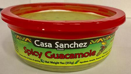 Casa Sanchez Foods, Spicy Guacamole, 9 oz., UPC # 0 78732 00426 9