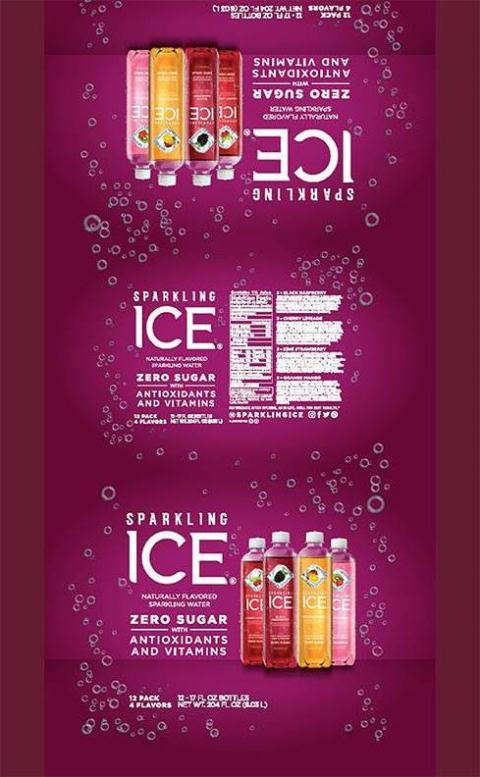 SPARKLING ICE CHERRY LIMEADE NATURALLY FLAVORED SPARKLING WATER 17 FL OZ (502.8 mL), 12 PACK 4 FLAVORS