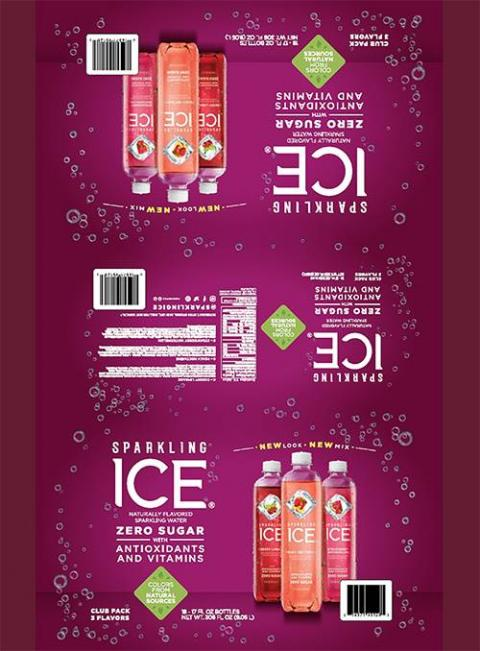 SPARKLING ICE CHERRY LIMEADE NATURALLY FLAVORED SPARKLING WATER 17 FL OZ (502.8 mL), CLUB PACK WITH 3 FLAVORS, 18 BOTTLES