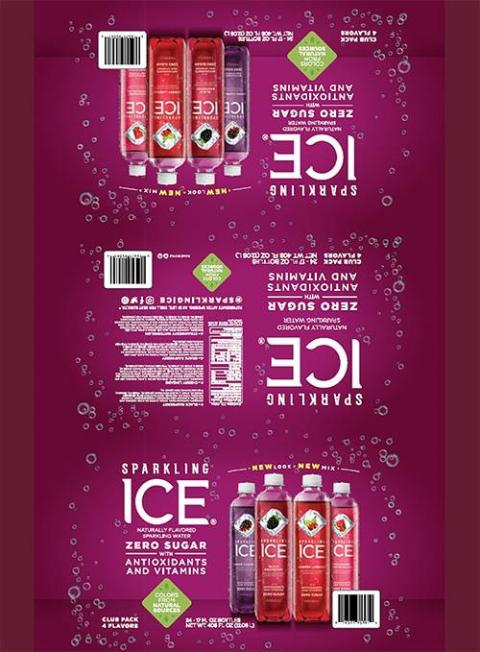 SPARKLING ICE CHERRY LIMEADE NATURALLY FLAVORED SPARKLING WATER 17 FL OZ (502.8 mL), CLUB PACK WITH 4 FLAVORS 24 BOTTLES