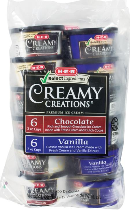Product image, Creamy Creations Vanilla Chocolate Cup 12CT/3OZ