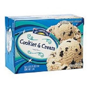 Hill Country Fare Cookies and Cream, 56 ounces, UPC 4122092215