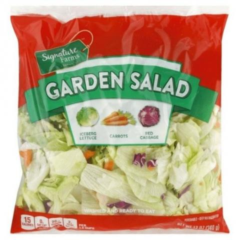 Image – Package Front of Signature Farms Garden Salad
