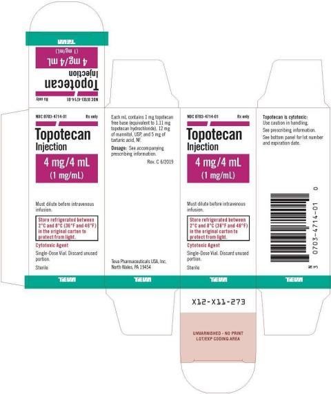 Topotecan Injection 4 mg/4 mL (1 mg/mL) label