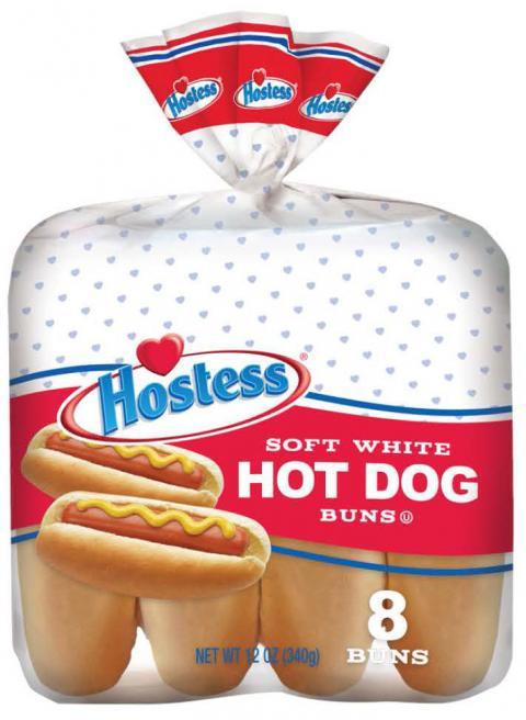Image, Hostess Hot Dog Buns