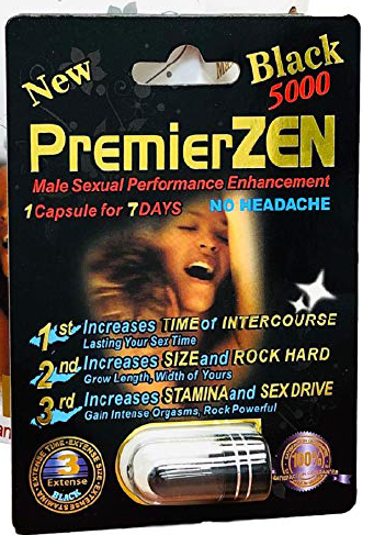 PremierZEN Black 5000, male sexual performance enhancement, 1 capsule for 7 days