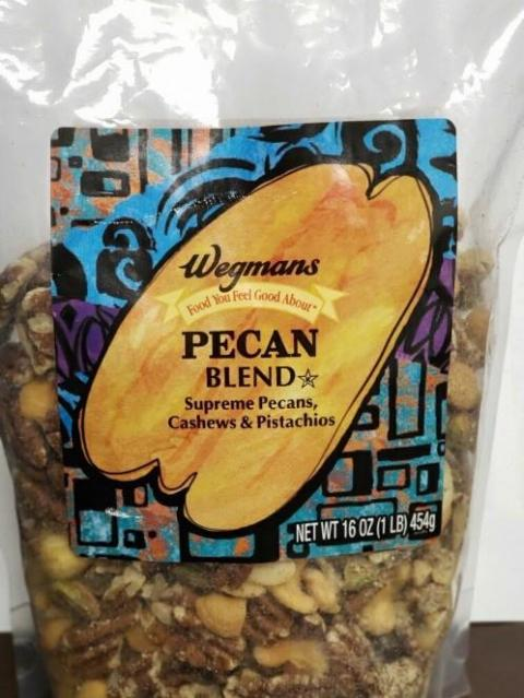 Wegmans Pecan Blend, 16 oz front package label