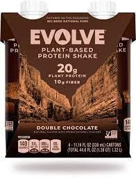 Product image, Evolve Plant based protein shake double chocolate