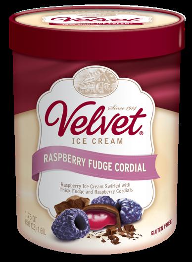 Velvet Ice Cream, RASPBERRY FUDGE CORDIAL, 56 OZ