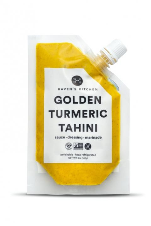Front label, Haven's Kitchen Golden Turmeric Tahini