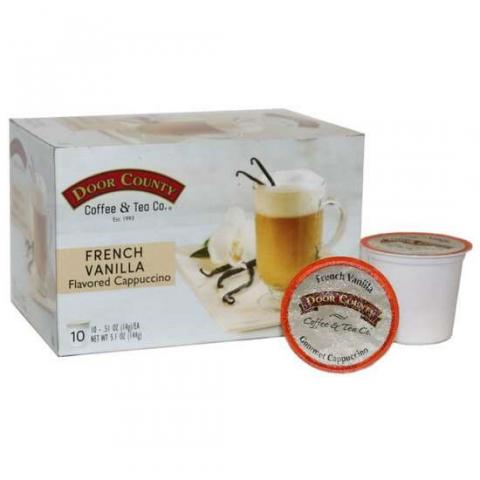 Photo 1 – Labeling, Door County Coffee & Tea Co., French Vanilla Flavored Cappuccino