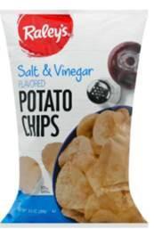 Package Front - Raley's Salt & Vinegar Flavored Potato Chips