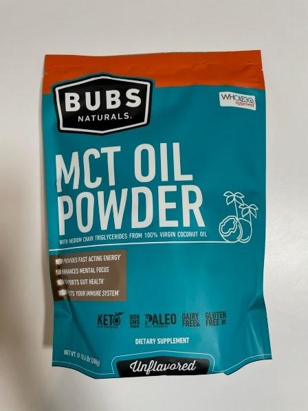 BUBS Naturals MCT Oil Powder Package, front view