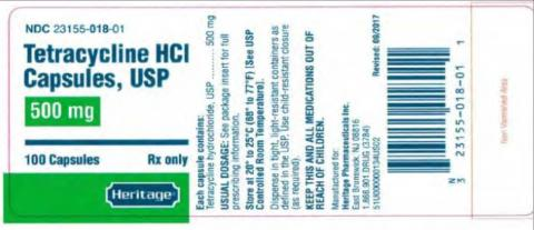 """Tetracycline HCl Capsules 500mg"""