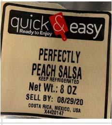 Photo 2 - Labeling, quick & easy, Perfectly Peach Salsa