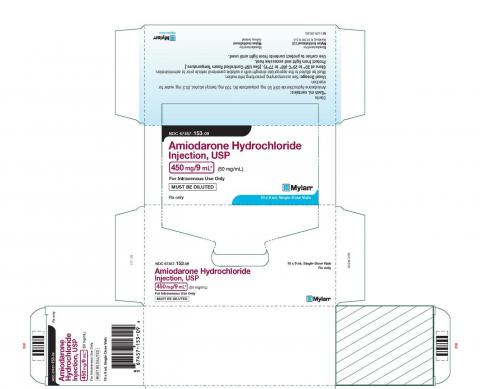 Carton label, Amiodarone HCl Injection