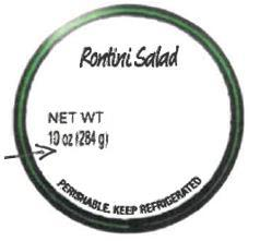 Label, Rotini Salad