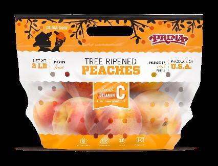 Package of Prima Peaches