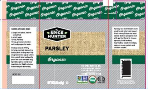 Label example, The Spice Hunter Parsley