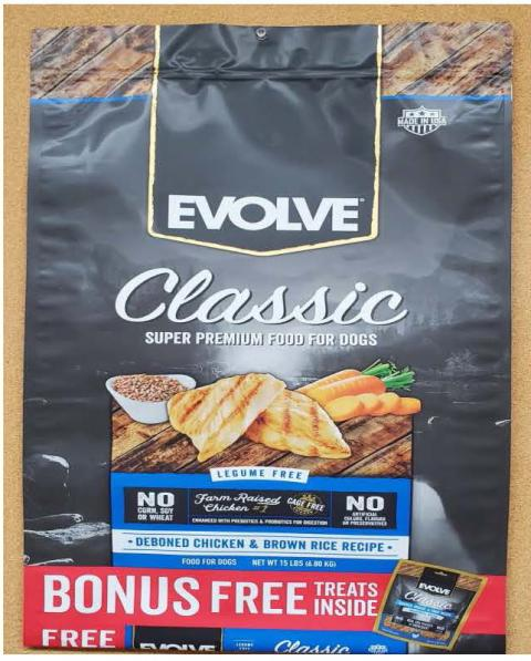 Front Image -  Evolve Classic Super Premium Food For Dogs Deboned Chicken & Brown Rice Recipe 15 lbs.