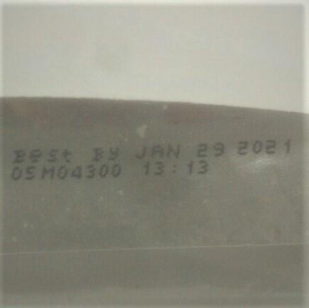 Back label expiration date and lot code