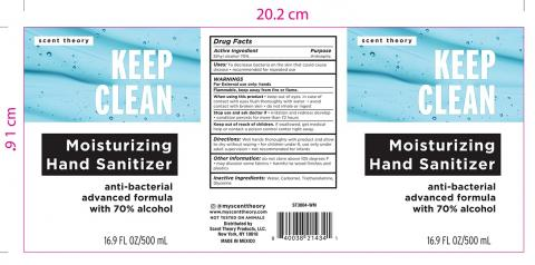 Scent Theory Keep Clean Hand Sanitizer 70% Alcohol, 16.9 fl oz (front)