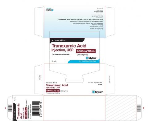 Carton label, Tranexamic Acid Injection