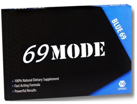 Front of package, 69MODE Blue 69