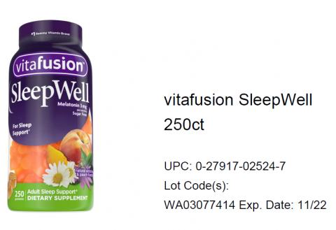 Photo – vitafusion SleepWell 250ct.