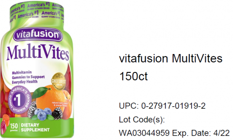 Photo – vitafusion MultiVites 150ct.