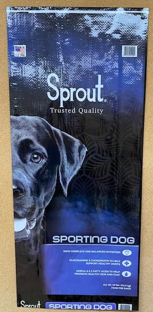 """5. """"Sprout, Sporting Dog, 40 lbs"""""""