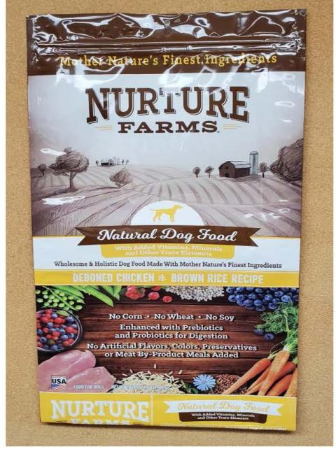 Front Image – Nature Farms Natural Dog Food Deboned Chicken & Brown Rice Recipe 15 lbs.