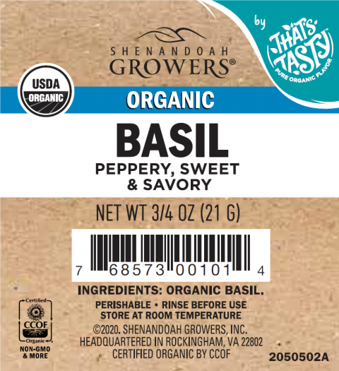 Shenandoah Growers, Organic Basil, ¾ oz.