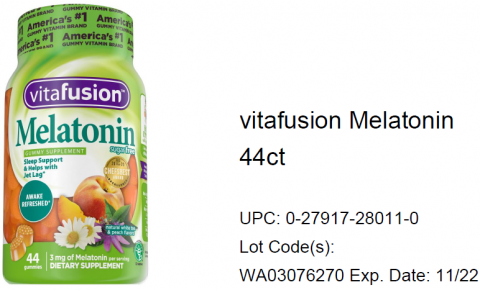 Photo – vitafusion Melatonin 44ct.