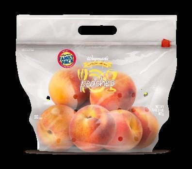 Package of Wegmans Peaches