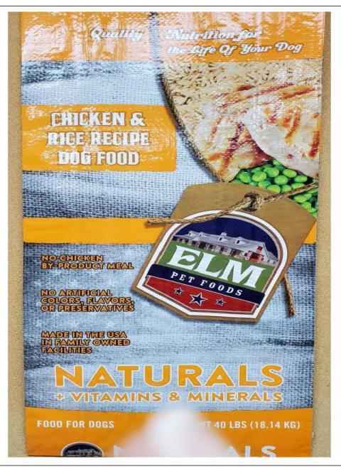 Front Image – Elm Pet Foods Chicken & Rice Recipe Dog Food 40 lbs.