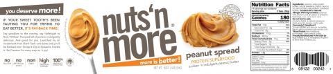 Nuts 'N More, peanut spread