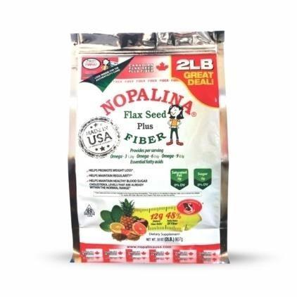 Front of Package – Nopalina Flax Seed Fiber, Powder, 2 lb. bag
