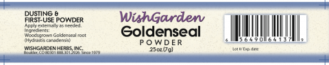 Photo 2- Labeling, WishGarden Goldenseal Powder
