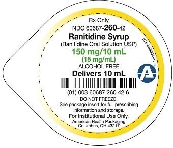 Label, Ranitidine Syrup, Liquid Unit Dose Cup