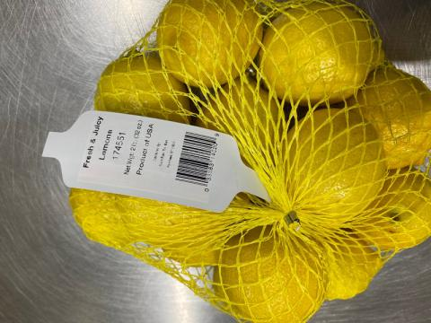 Image showing lemons in mesh bag displaying tag 174551