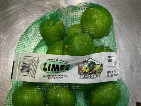 Image, Freshouse Limes in mesh bad 2 lb.