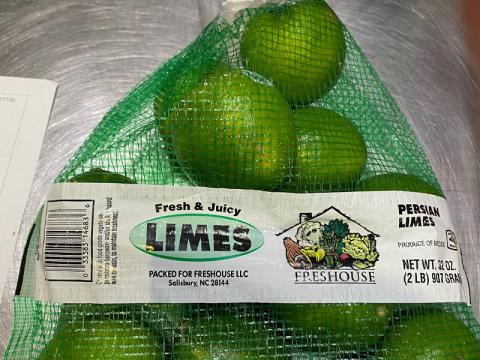 Image, 2 lb lime mesh bag