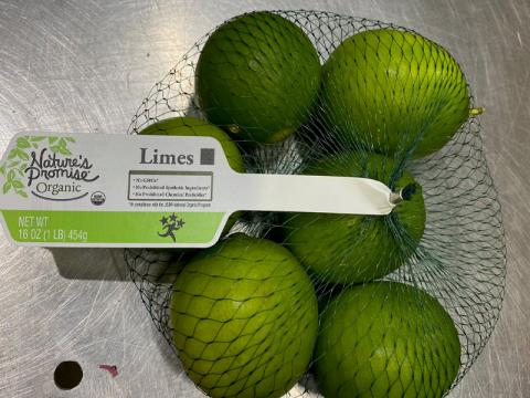 Image, Natures Promise Organic Limes 16 oz.
