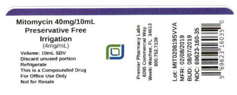 Mitomycin 40mg/10mL, Preservative Free, Irrigation (4mg/mL), Premier Pharmacy Labs