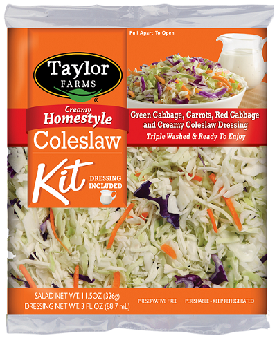 """Taylor Farms Creamy Homestyle Coleslaw Kit, product image"""
