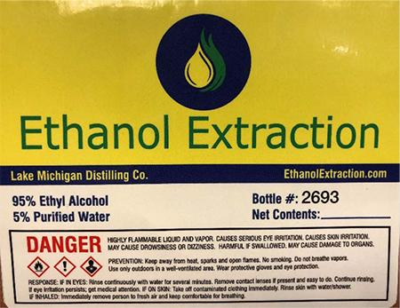 Ethanol Extraction Recalls Alcohol Product Because of Possible