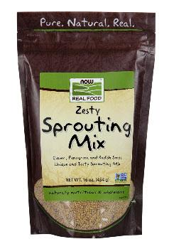 Now Real Food, Zesty Sprouting Mix, 16 oz.