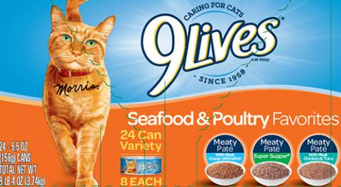 Label, 9Lives Seafood Poultry Variety Pack